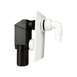 Unterputz - Siphon für Waschgeräte weiss