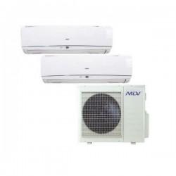 MDV Klimaanlage MultiSplit 2 Räum 26m2 + 35m2 Inverter Klimageräte MIDEA