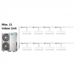 MIDEA mini VRF 20kW + 11 x wandklimageräte 2,2kW Klimaanlagen & Heizgeräte MDV