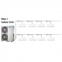 MIDEA mini VRF 12,3kW + 7 x wandklimageräte 2,2kW Klimaanlagen & Heizgeräte MDV