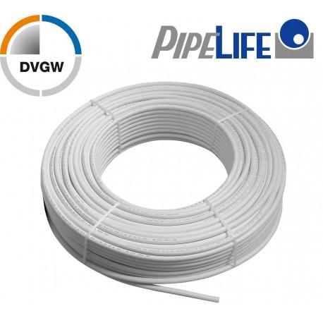 1m Alu Verbundrohr 20 x 2 mm, Pipelife mit DVGW Mehrschichtverbundrohr
