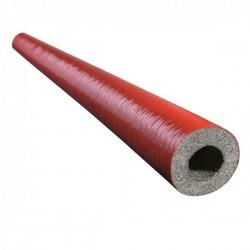 Rohrisolierung 2m lang, Dämmstärke 6mm f. Rohr Ø 15mm, rot | 0,45€/m